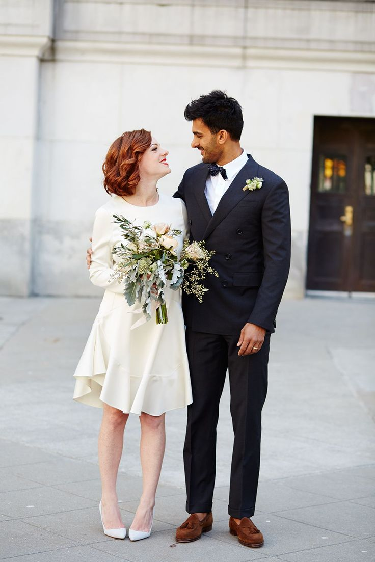 City hall wedding dress inspiration for unique brides - BridalPulse