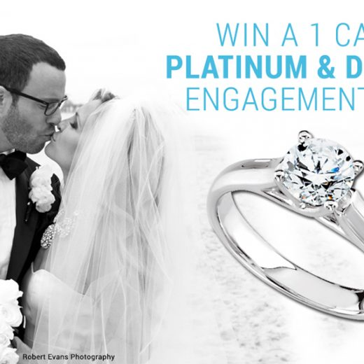 enter to w in a platinum and diamond engagement ring