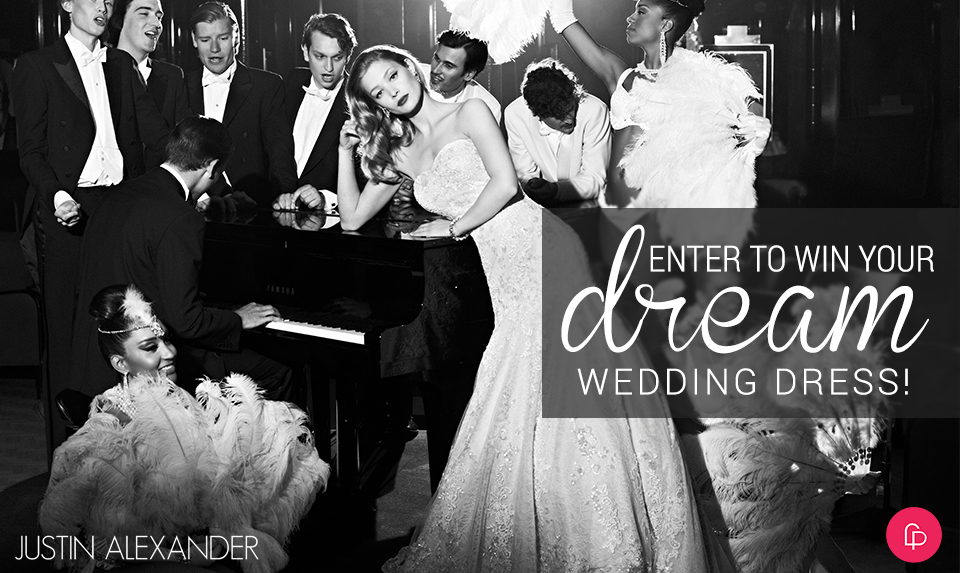 enter to win justin alexander wedding dress giveaway