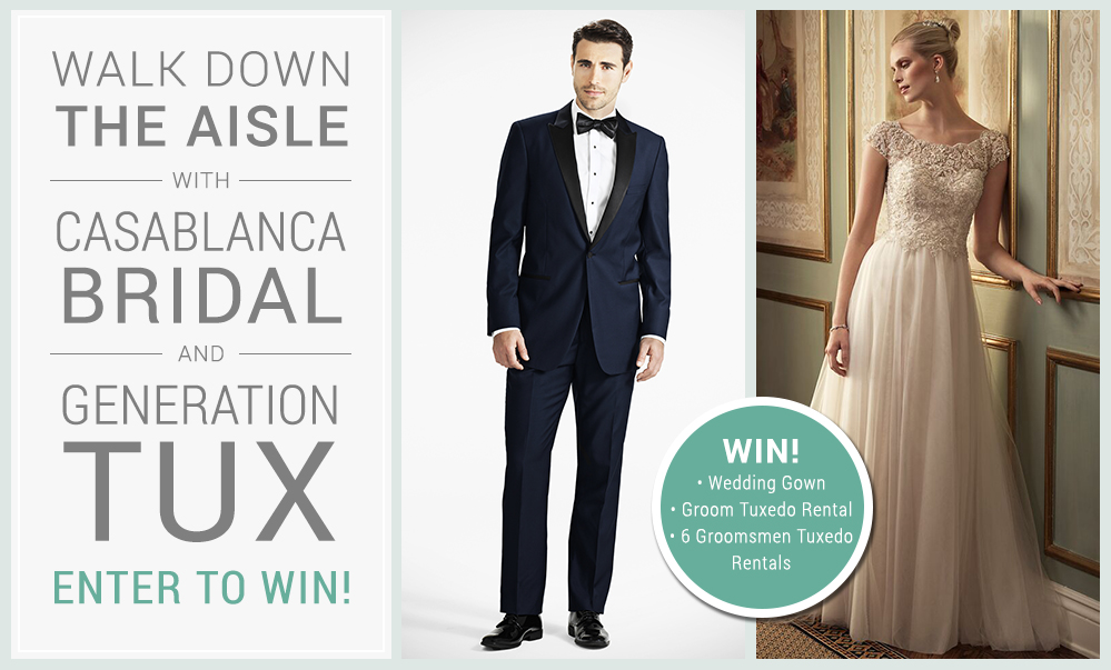 win a wedding dress tuxedo and groomsmen attire giveaway