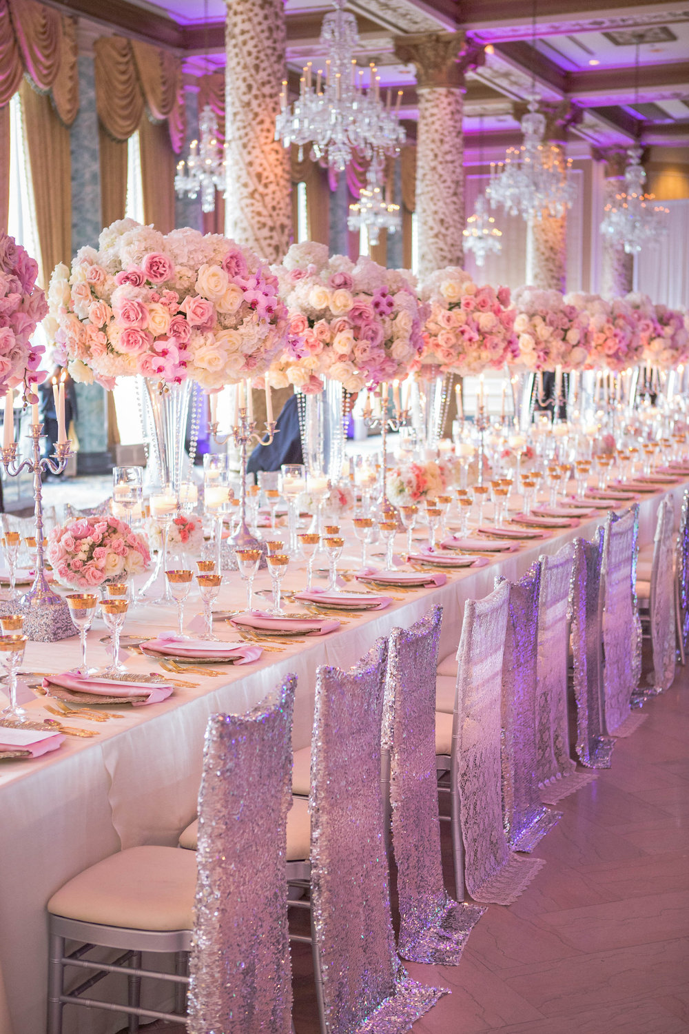 Wedding Ideas : Long Reception Tables - BridalPulse
