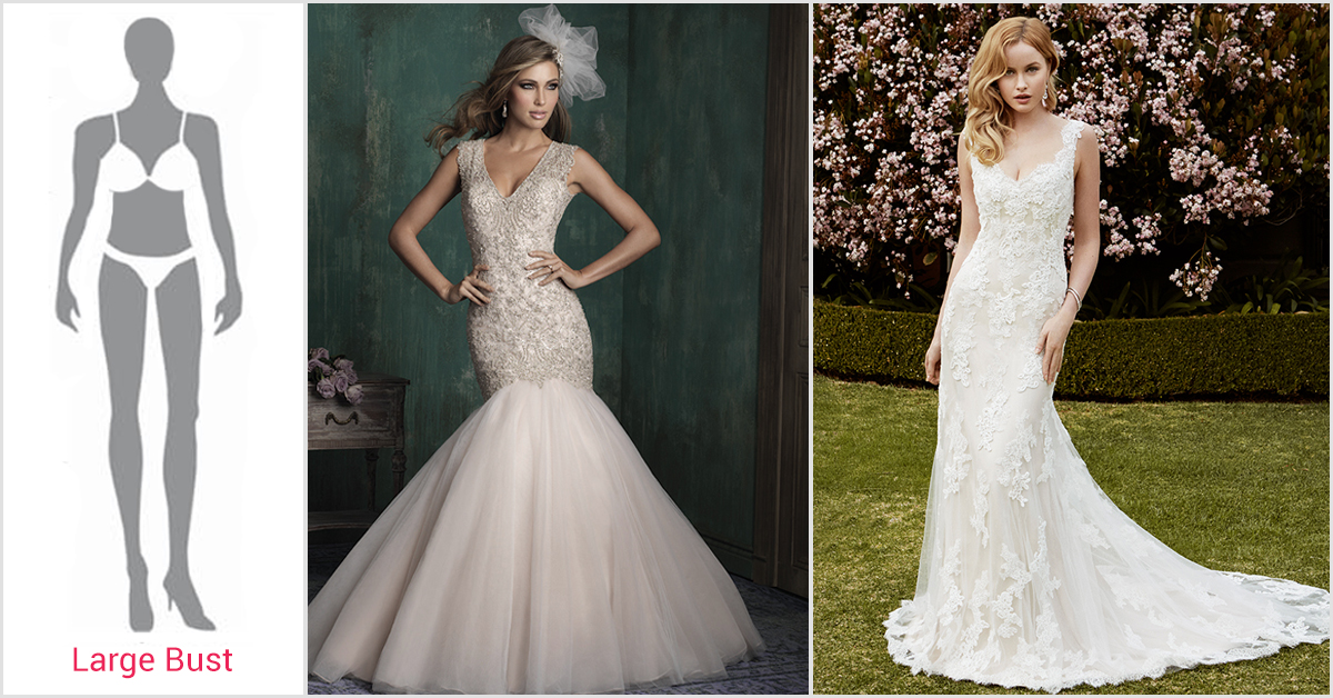 Wedding dresses large bust wedding dresses in jax for Wedding dresses for big busted women
