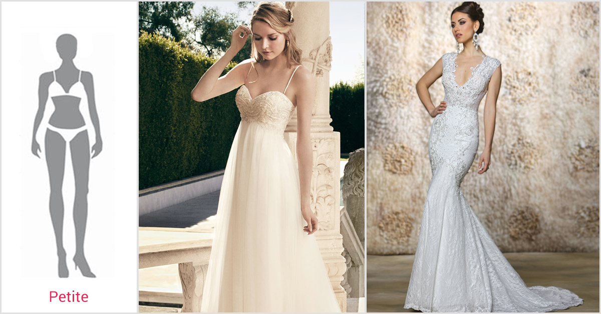 Wedding dress body type petite bridesmaid dresses for Fit and flare wedding dress body type