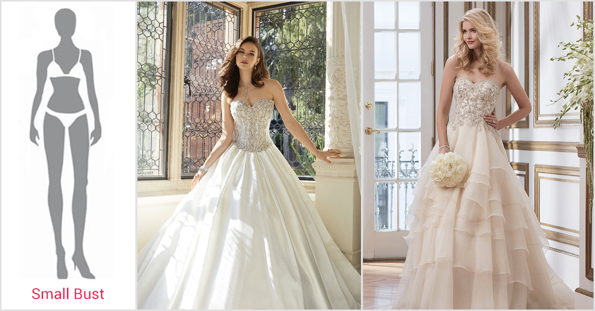 Beyond body shapes best wedding dresses for your figure for Wedding dresses for small frames