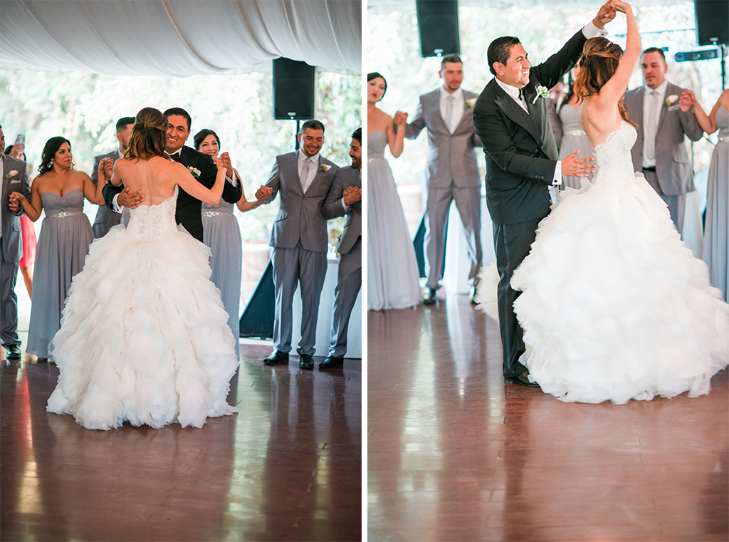 Bride And Groom First Dance California Wedding