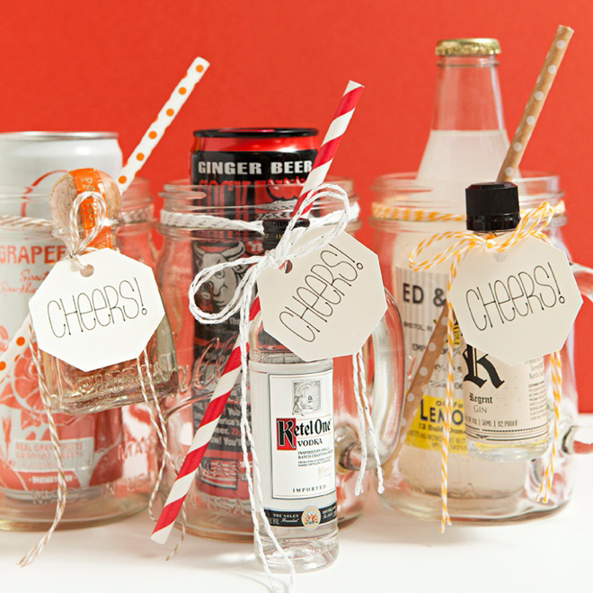 Wedding Gift Ideas Alcohol : DIY Mason Jar Cocktail Gifts - XL - BridalPulse