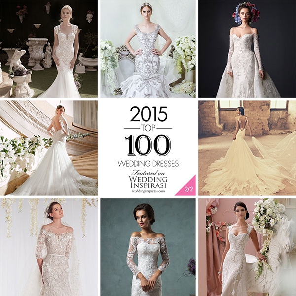 afc890dc1d054 Top 100 Most Popular Wedding Dresses in 2015 Part 2. Sheath, Fit & Flare,  Trumpet, Mermaid & Column Bridal Gown Silhouettes