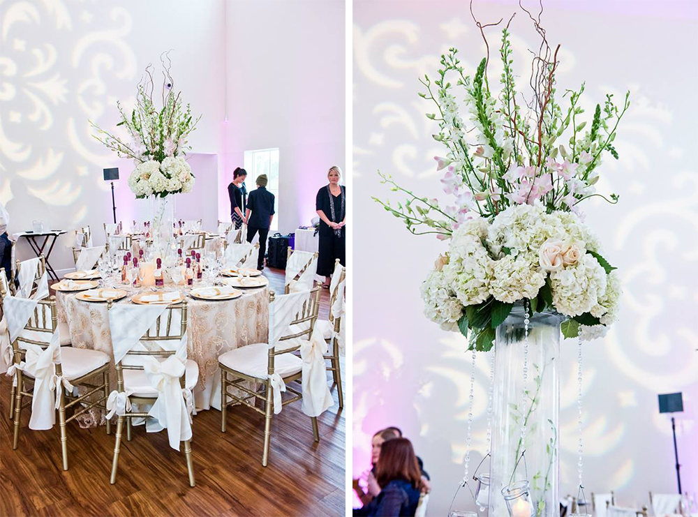 Chic miami destination wedding by fortuna events bridalpulse miami destination wedding blush and ivory floral centerpieces junglespirit Image collections