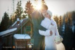 outdoor winter real wedding at dunton hot springs colorado
