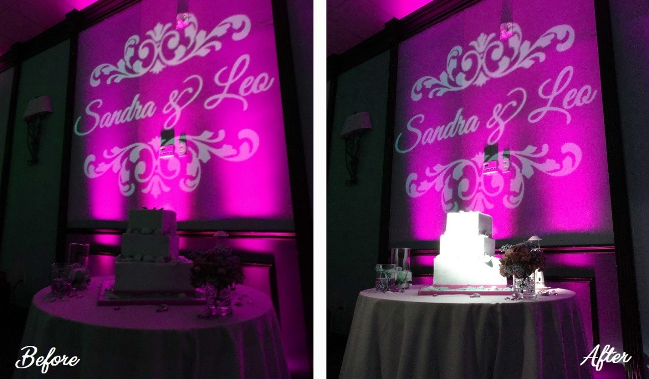 transform your wedding with cake spotlights