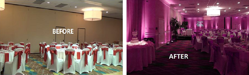 transform a wedding with uplighting