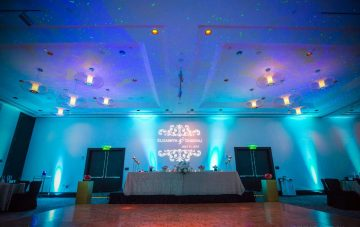 transform a wedding with monogram lighting