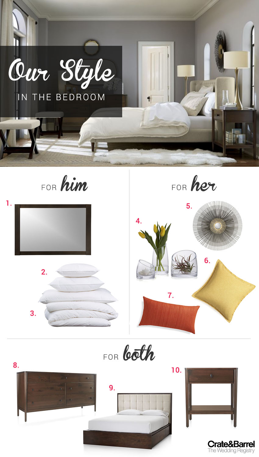 His and Hers Wedding Registry Style with Crate and Barrel ...