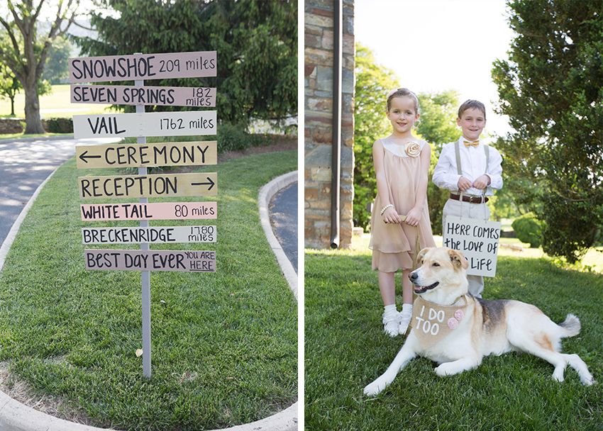 wedding sign flower girl and ring bearer