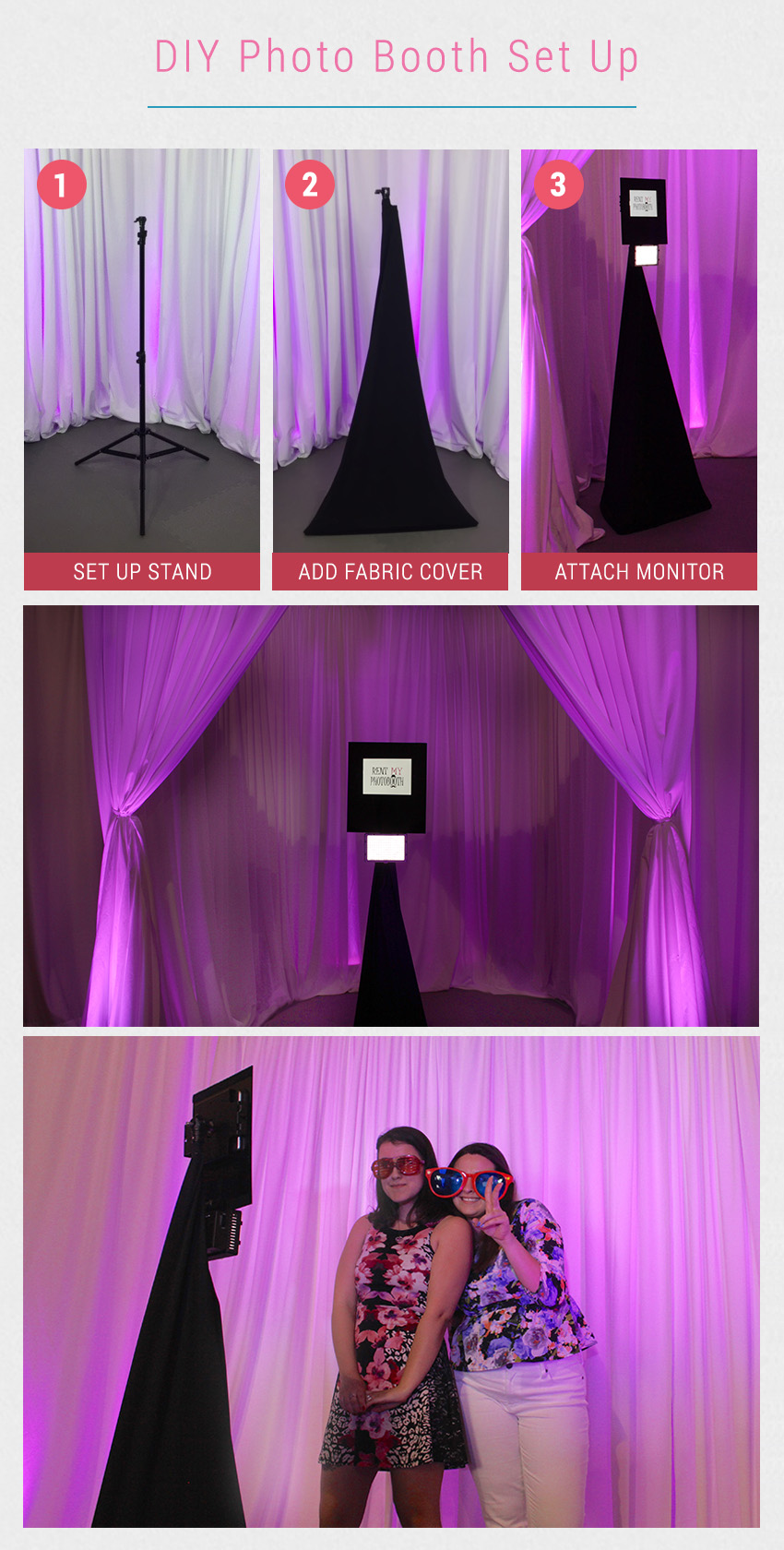 Diy photo booth setup in 3 easy steps bridalpulse diy photo booth everyone loves a photo booth for wedding receptions the good news is that there are solutioingenieria Images
