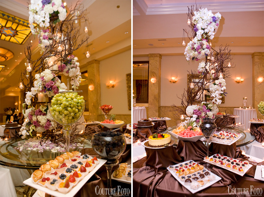dessert table at fantasy wedding in new jersey
