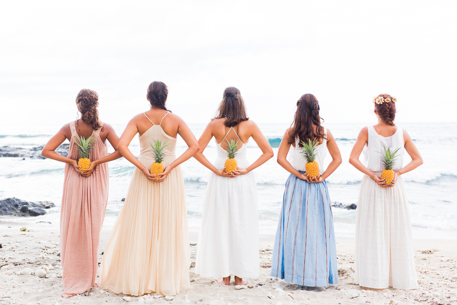 Pineapples Coconuts Aztec Patterns A Fun Bridal Party Shoot On