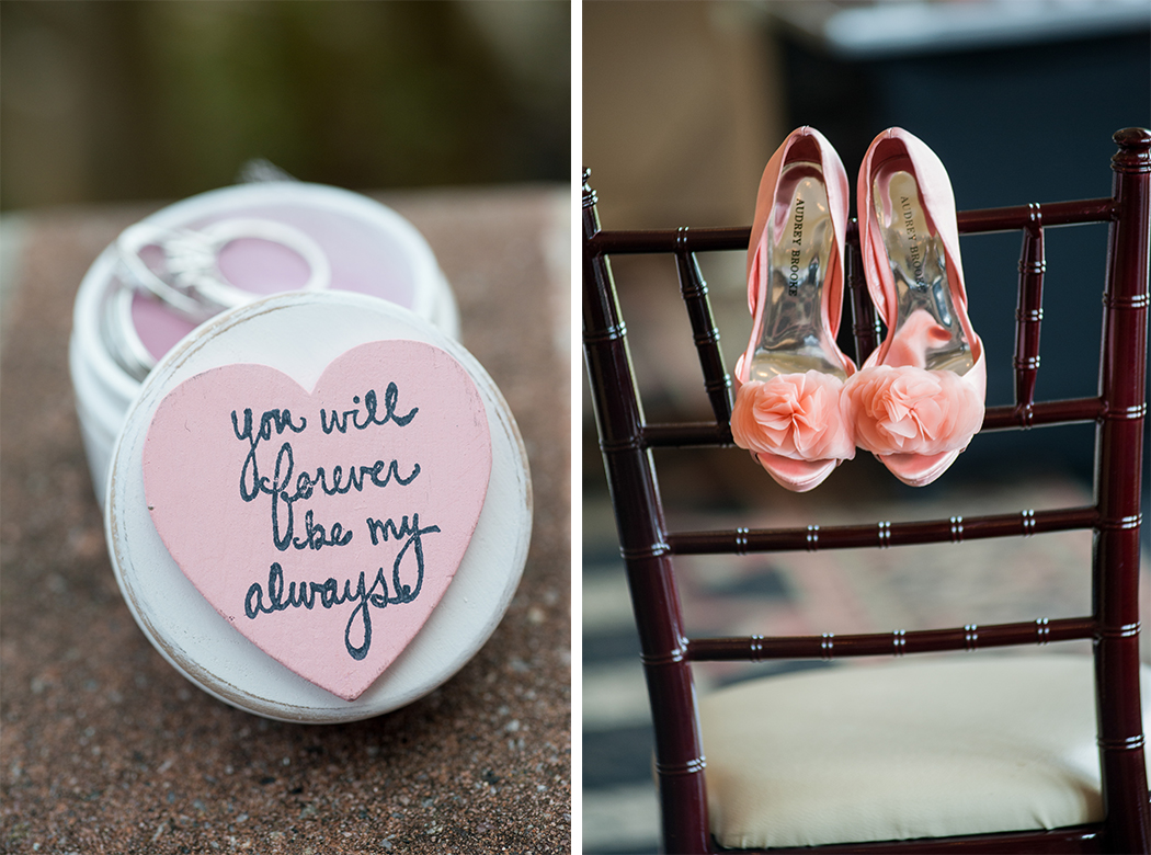 pink bridal shoes - country club wedding