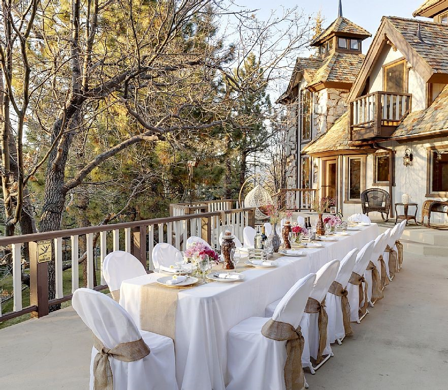 Non-traditional wedding venues - private home rentals - big bear lake