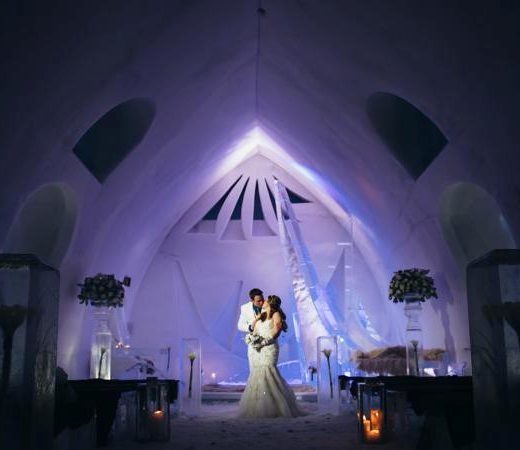 hotel de glace ice hotel in quebec - destination wedding