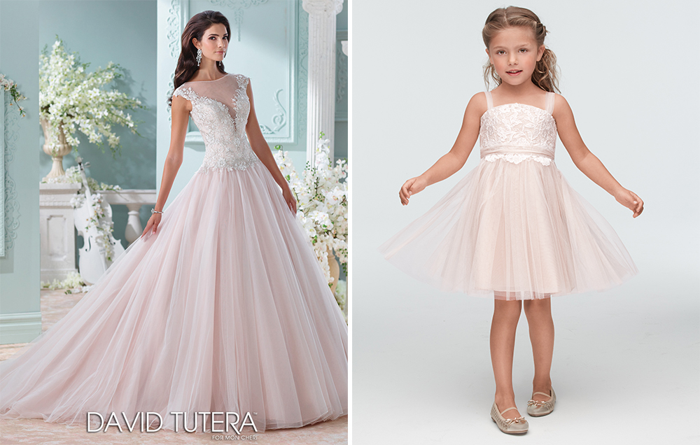 david tutera wedding dress and seahorse for watters flower girl dress
