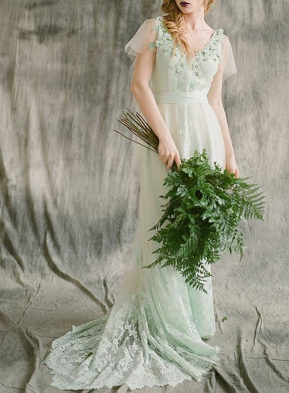 Green Wedding Gowns That Will Have You Swooning With Mother Nature ...