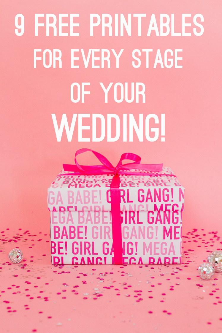 9 free printables for every stage of your wedding planning - bridalpulse