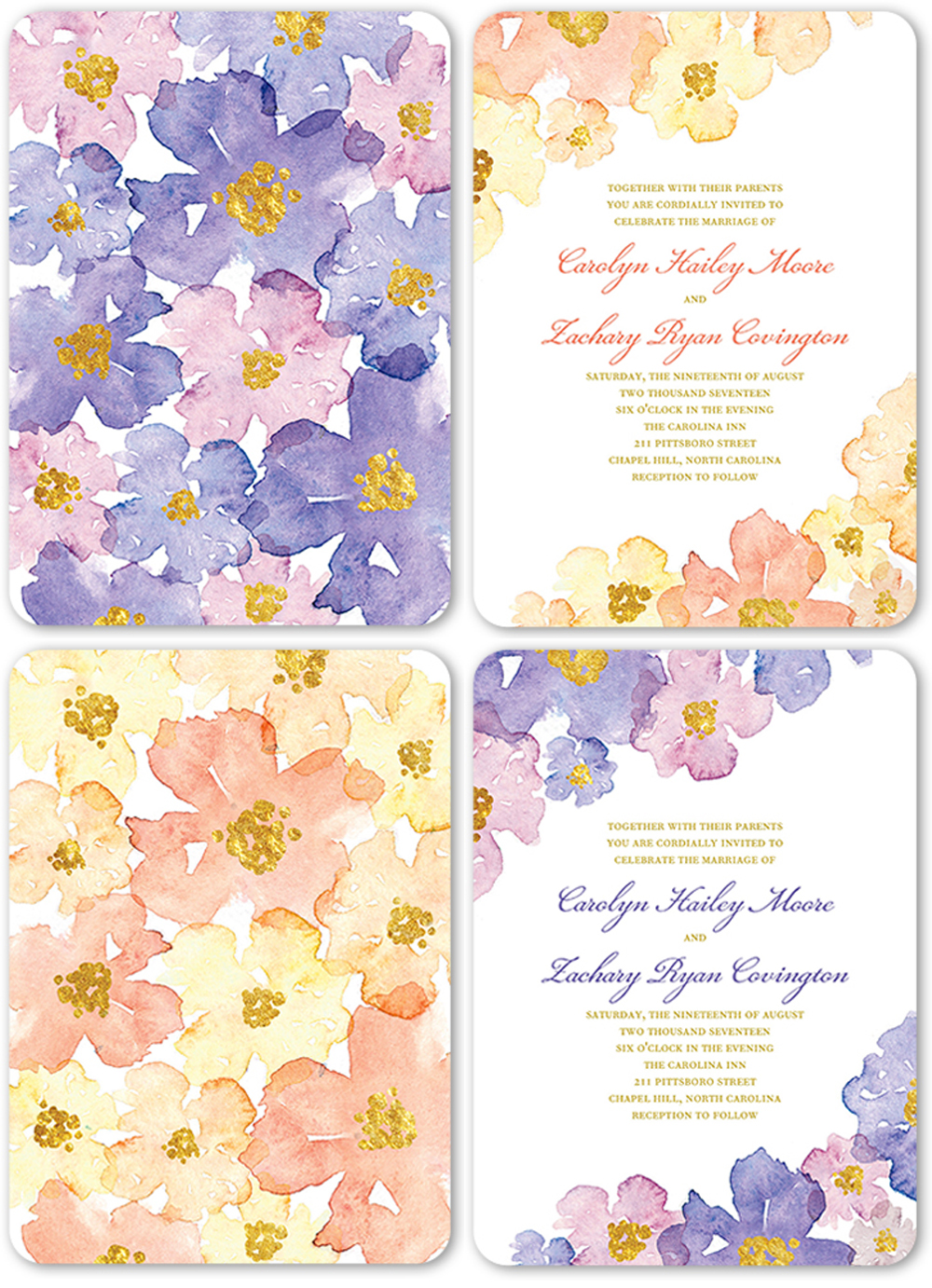 Watercolor Wedding Inspiration - Invitation from Shutterfly - Blooming Forever