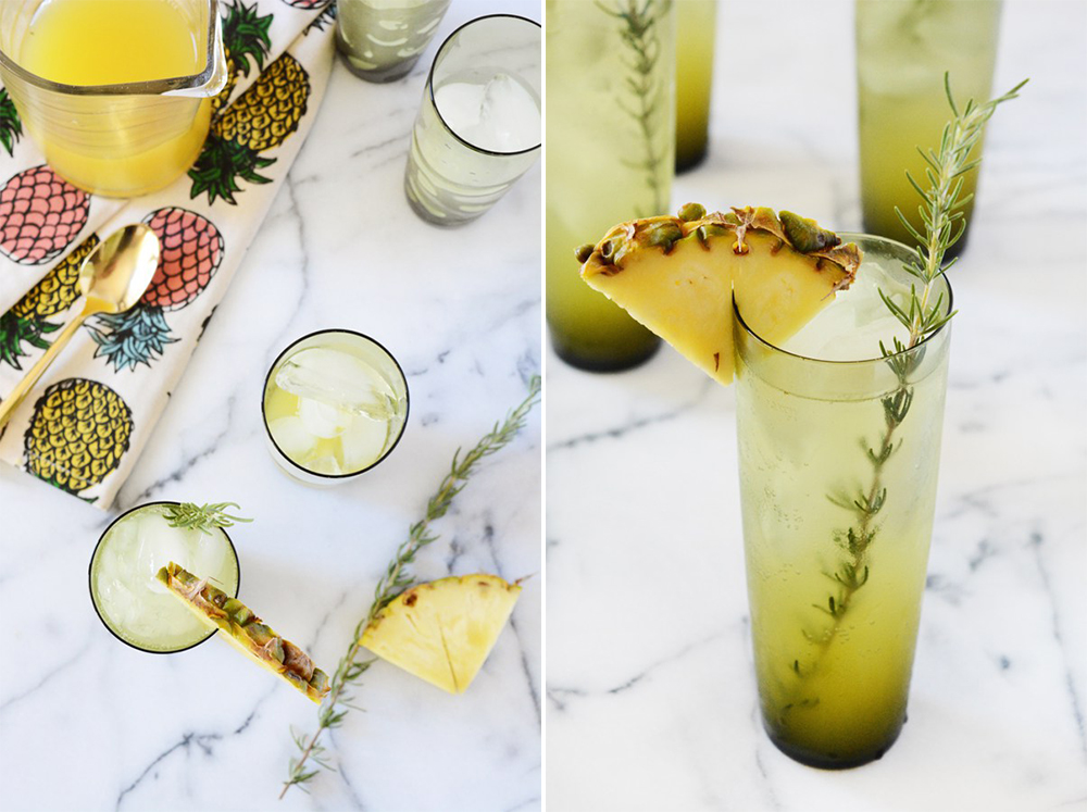 BridalPulse - 10 Wedding Mocktails for Summer Weddings - Oleander and Palm - Pineapple Rosemary Spritzer