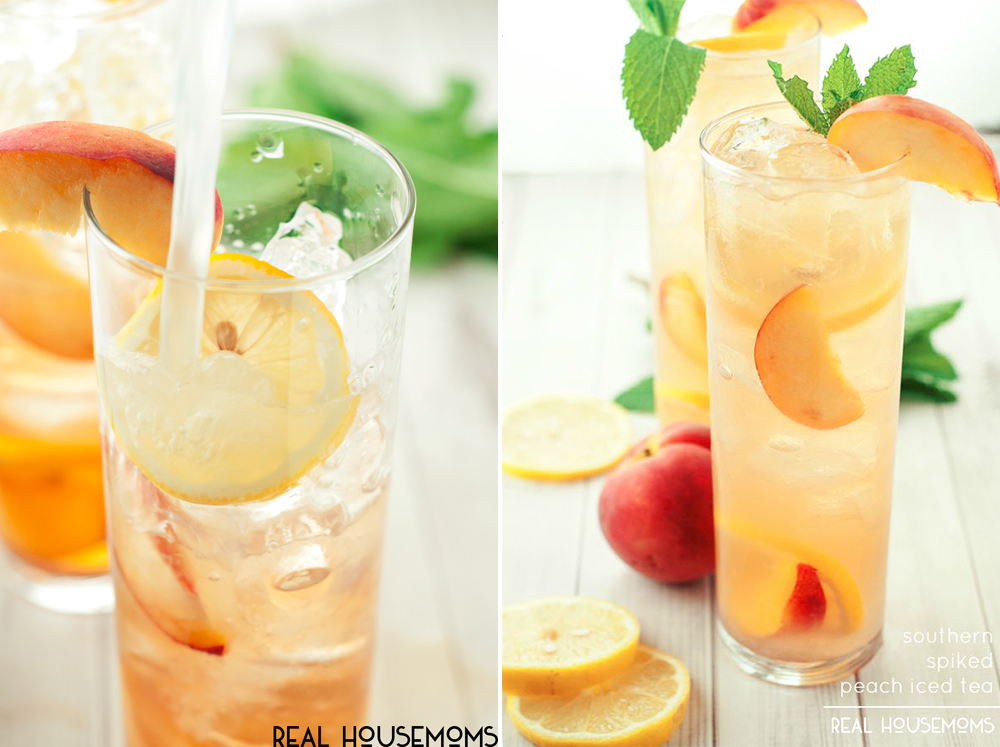 BridalPulse - 10 Wedding Mocktails for Summer Weddings - Real Housemoms - Southern Unspiked Peach Iced Tea