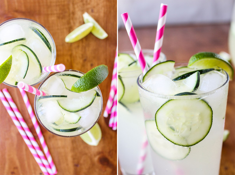 BridalPulse - 10 Wedding Mocktails for Summer Weddings - The Food Charlatan - Cucumber Lime Punch