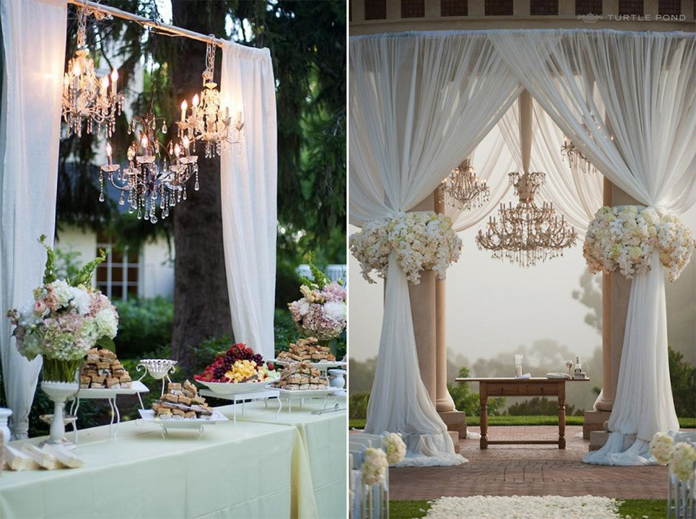 8 Gorgeous Pipe & Drape Wedding Backdrops - BridalPulse