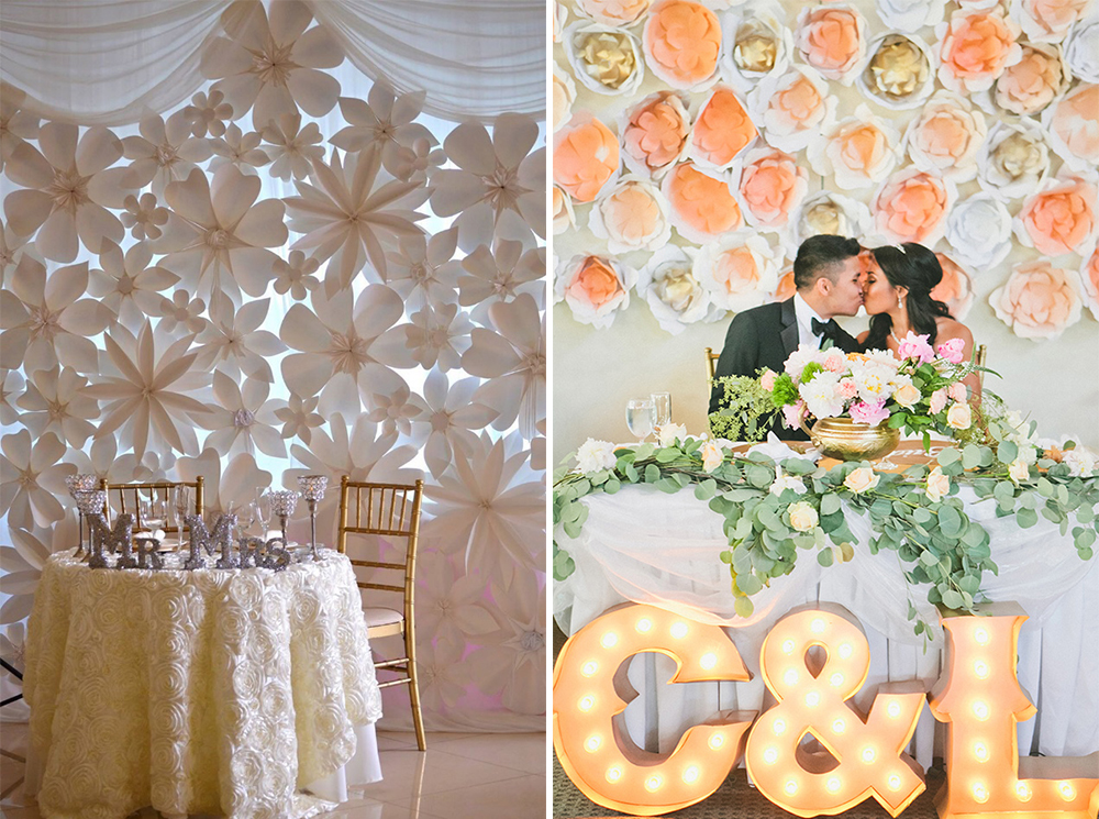 Wedding backdrop decoration ideas for Wedding backdrops
