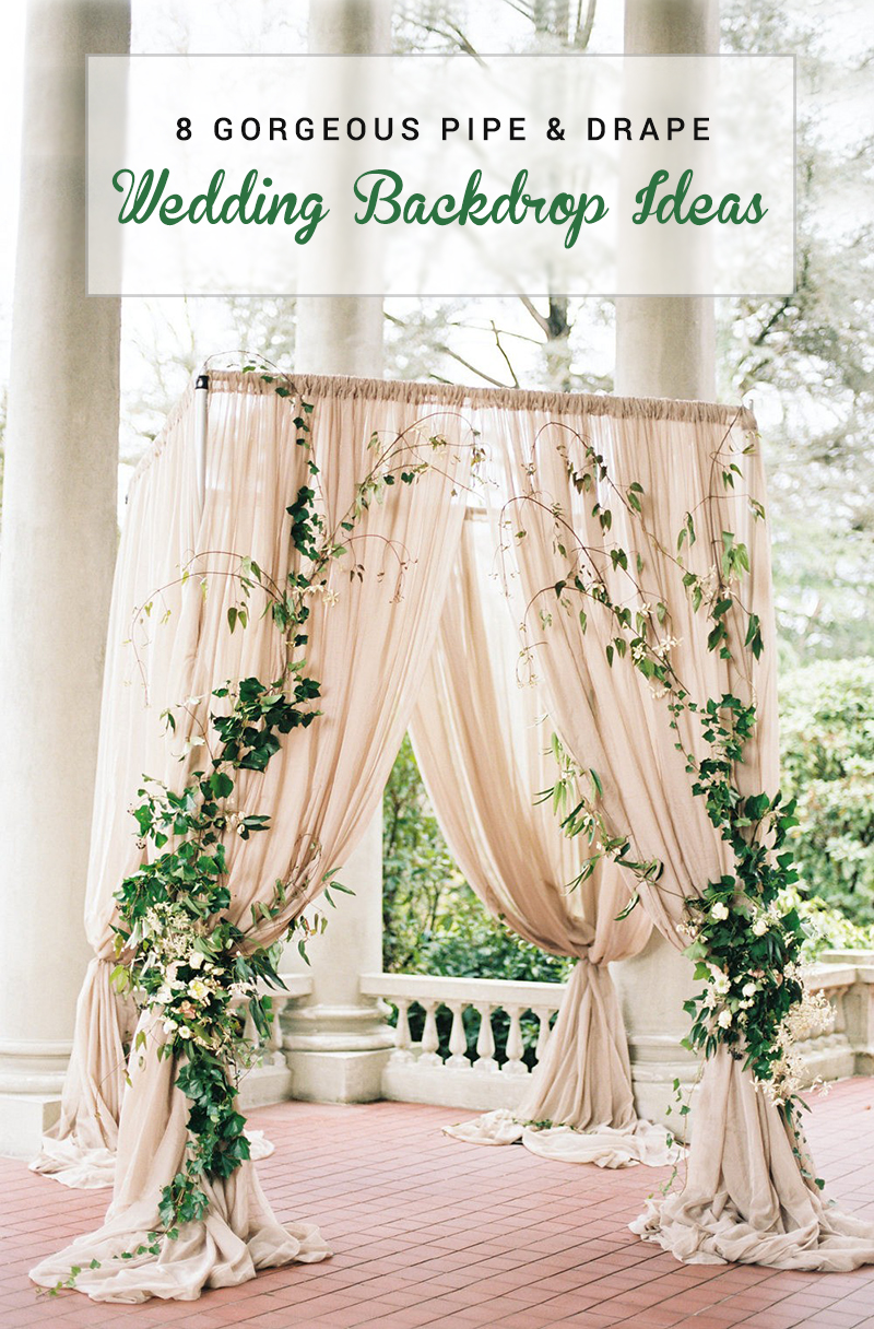 8 gorgeous pipe drape wedding backdrops bridalpulse 8 gorgeous pipe and drape wedding backdrop ideas junglespirit Choice Image