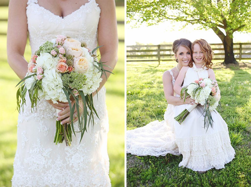 BridalPulse - Sweet Home Alabama Farm Wedding By Rent My Wedding | bride with flower girl