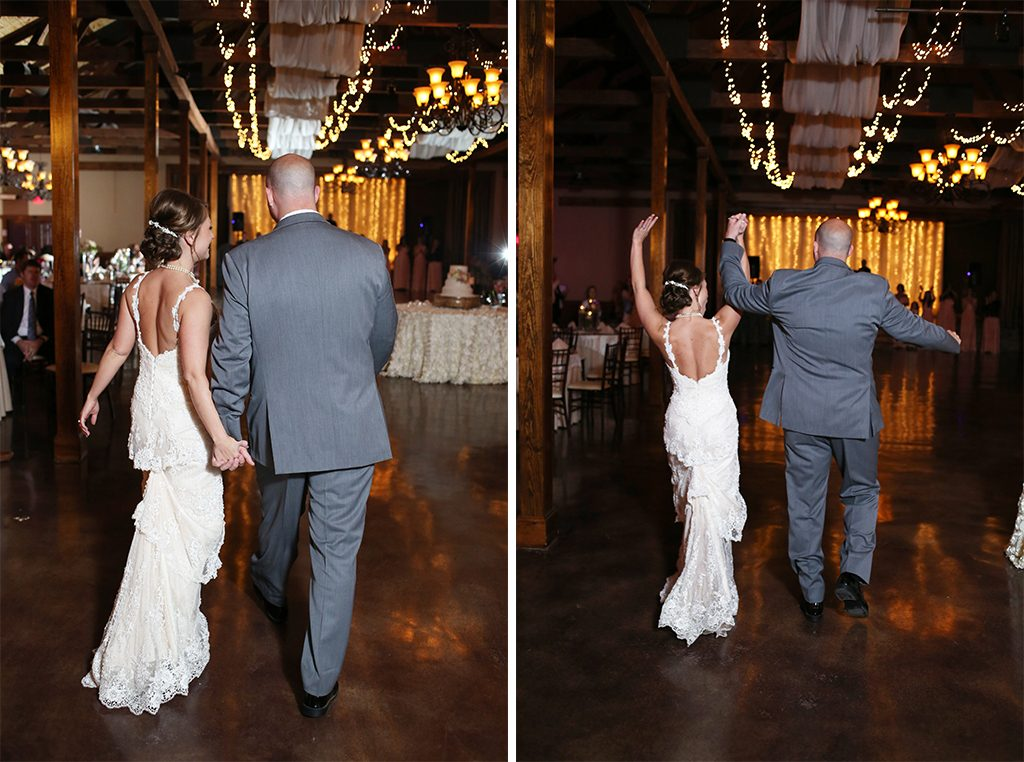 BridalPulse - Sweet Home Alabama Farm Wedding By Rent My Wedding | bride and groom walk in to reception