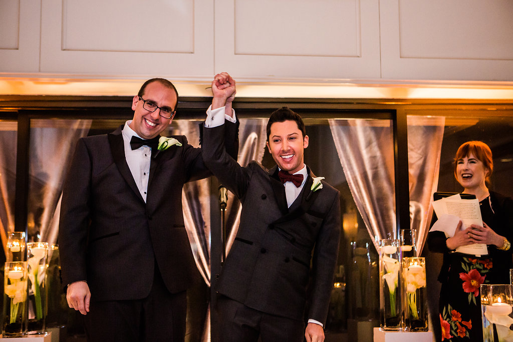 gay couple just married at los angeles wedding ceremony