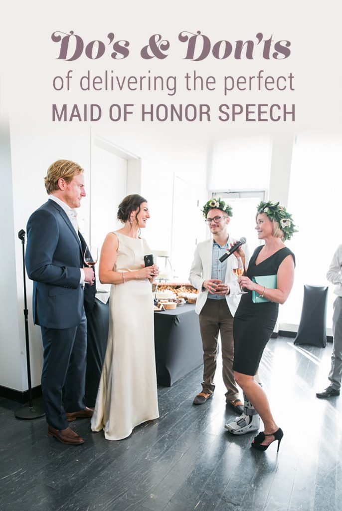 BridalPulse - The Do's & Don'ts of Delivering the Perfect Maid of Honor Speech by The Bach   Image by Robert Evans Studio