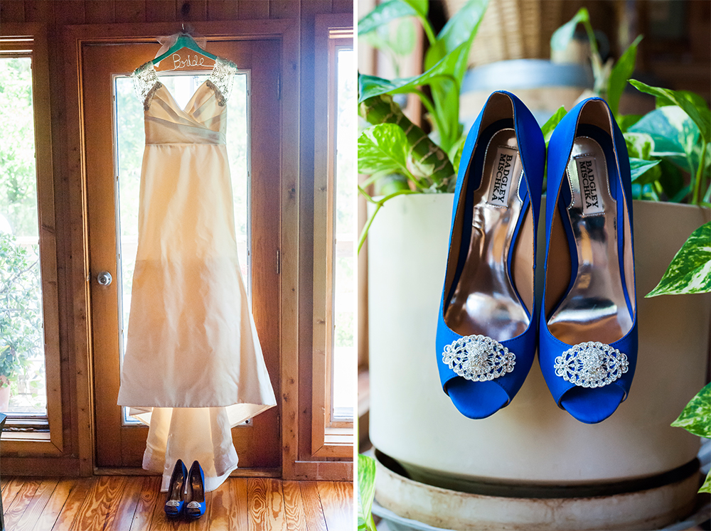 BridalPulse - An Outdoor Vineyard Wedding in NC By Rent My Wedding | wedding dress and badgley mischka wedding shoes