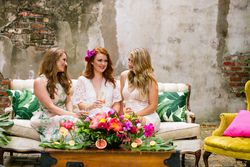 hold on to the last days of summer with this tropical kate spade inspired bridal shower