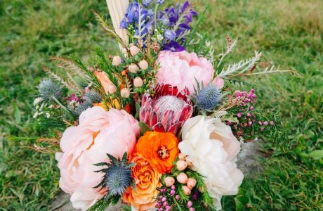 Colorful Cliffside Elopement Styled Shoot