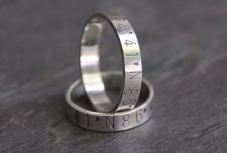 Latitude Longitude Wedding Rings — Handmade-a-Day