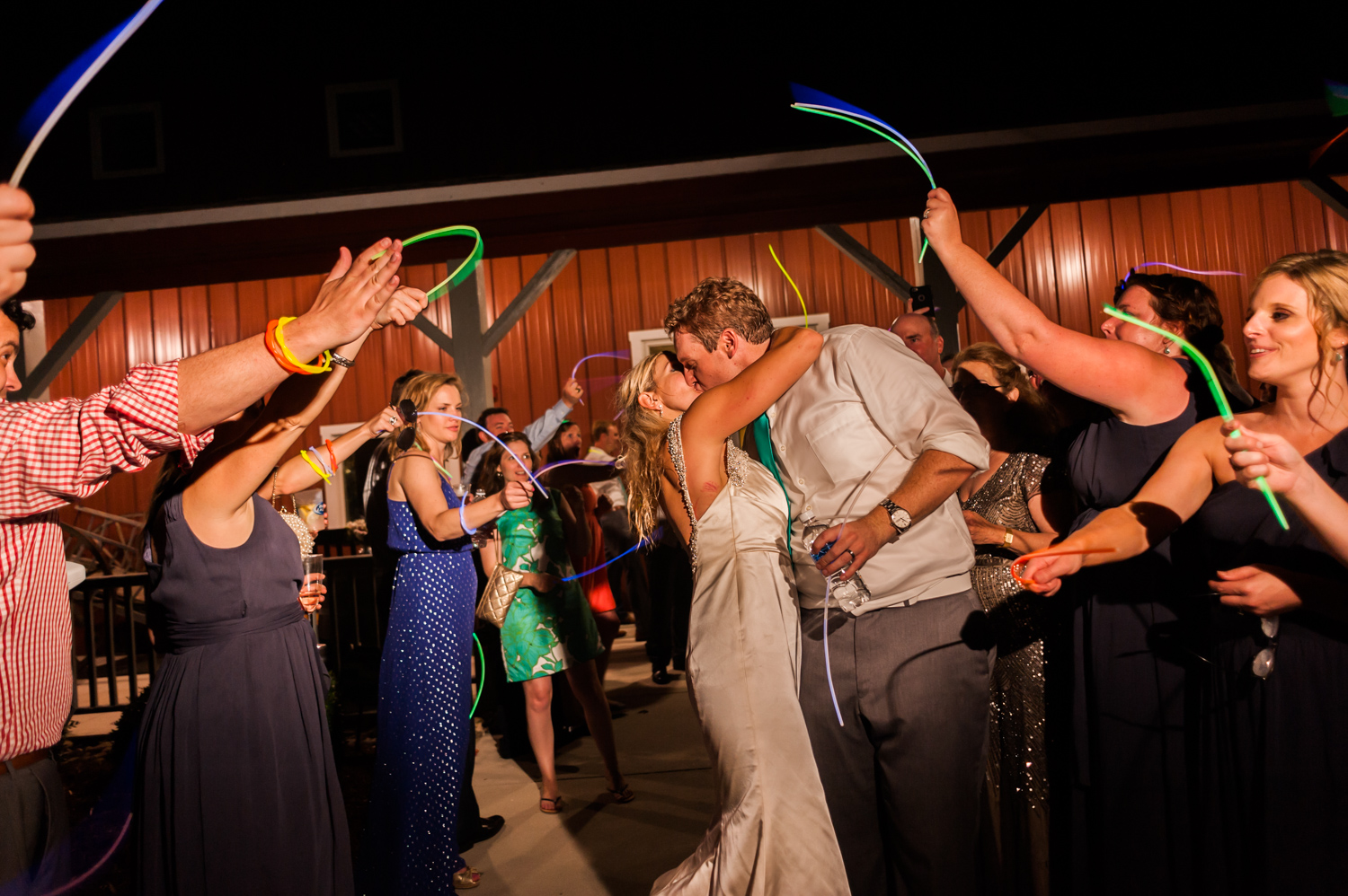 BridalPulse - An Outdoor Vineyard Wedding in NC By Rent My Wedding | bride and groom send off