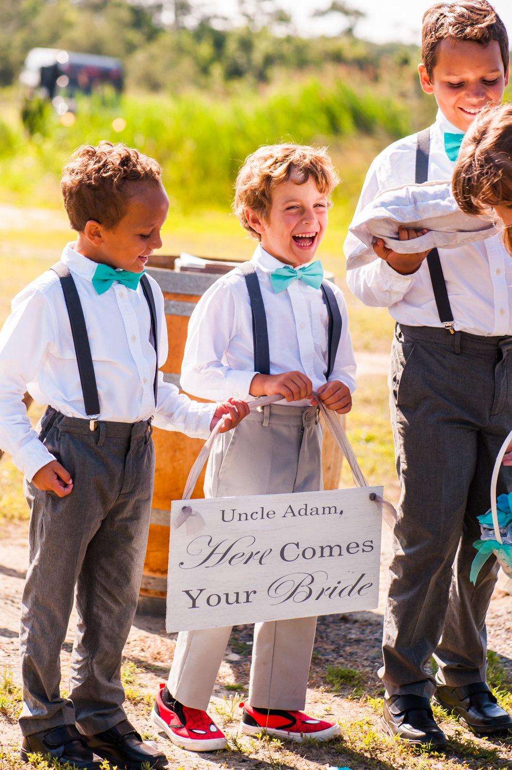 BridalPulse - An Outdoor Vineyard Wedding in NC By Rent My Wedding | ring bearers