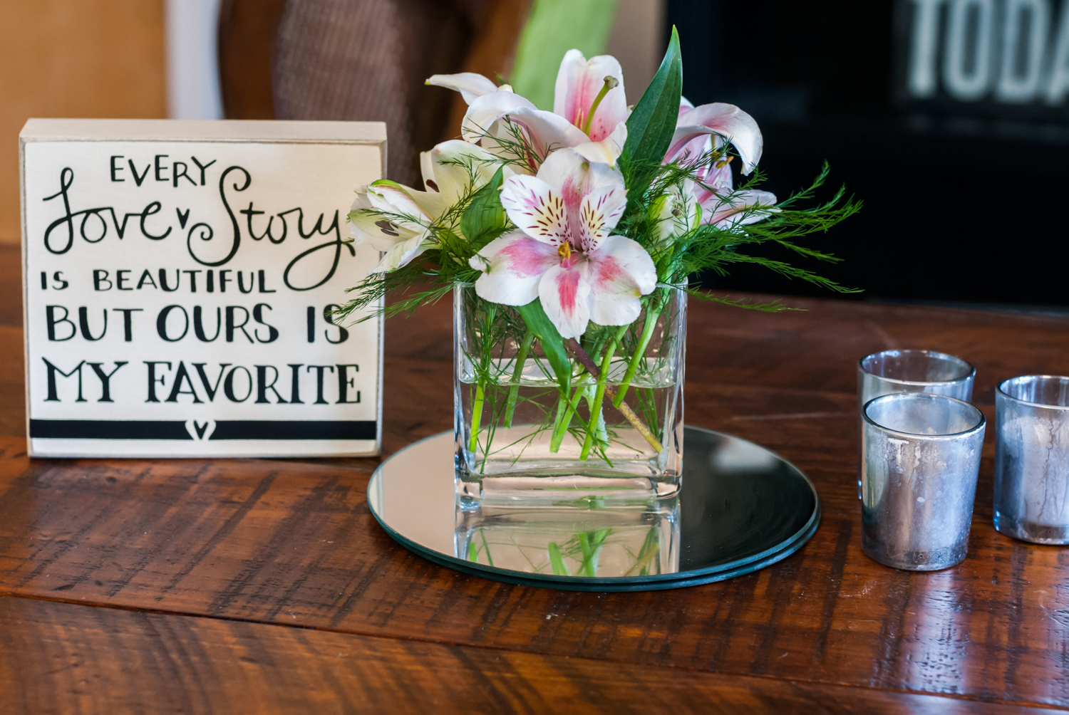 BridalPulse - An Outdoor Vineyard Wedding in NC By Rent My Wedding | wedding love sign