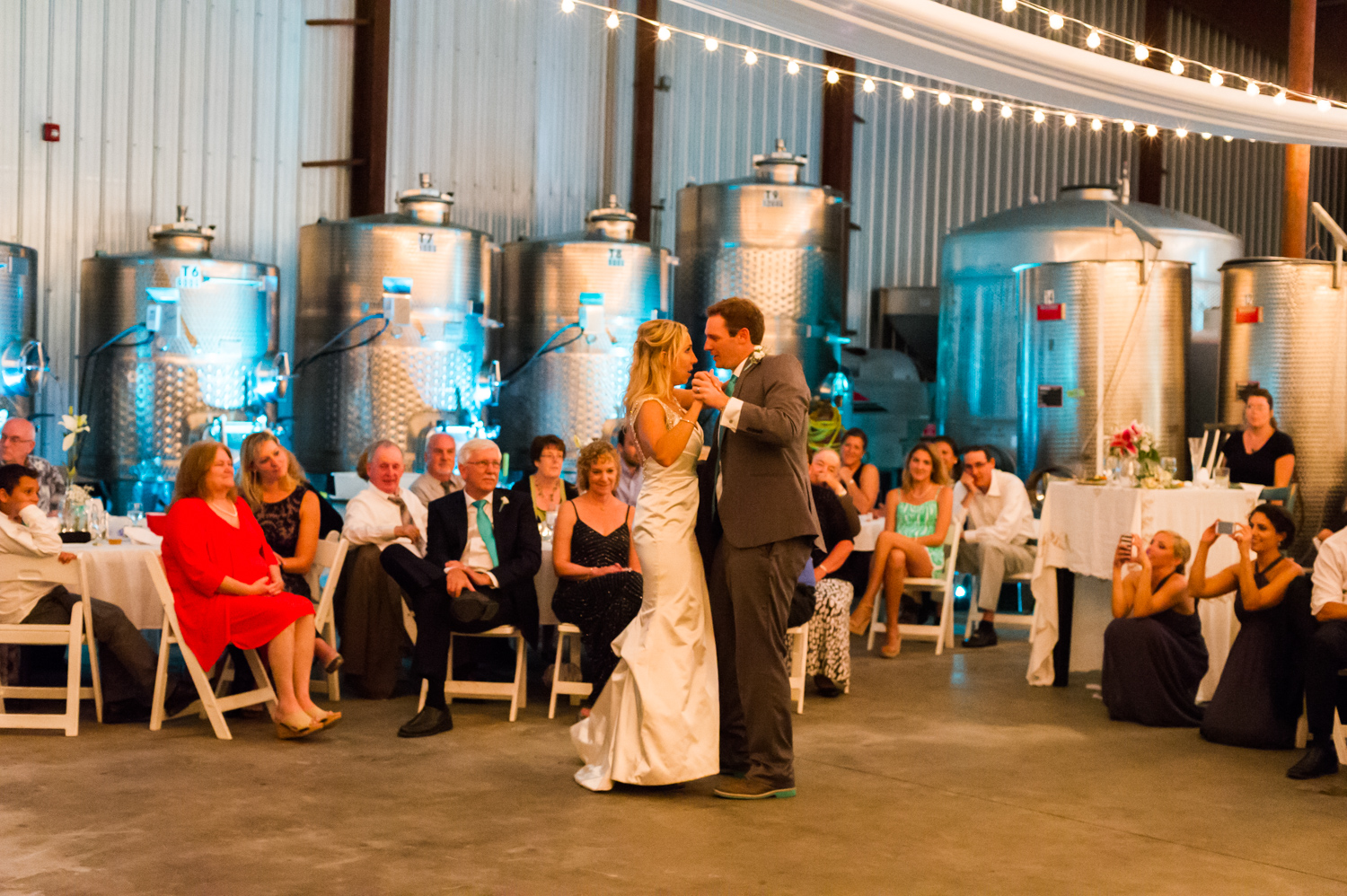 BridalPulse - An Outdoor Vineyard Wedding in NC By Rent My Wedding | bride and groom first dance