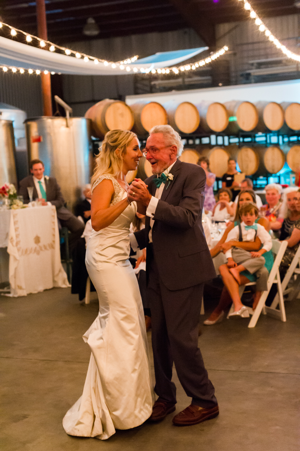 BridalPulse - An Outdoor Vineyard Wedding in NC By Rent My Wedding | bride and father first dance