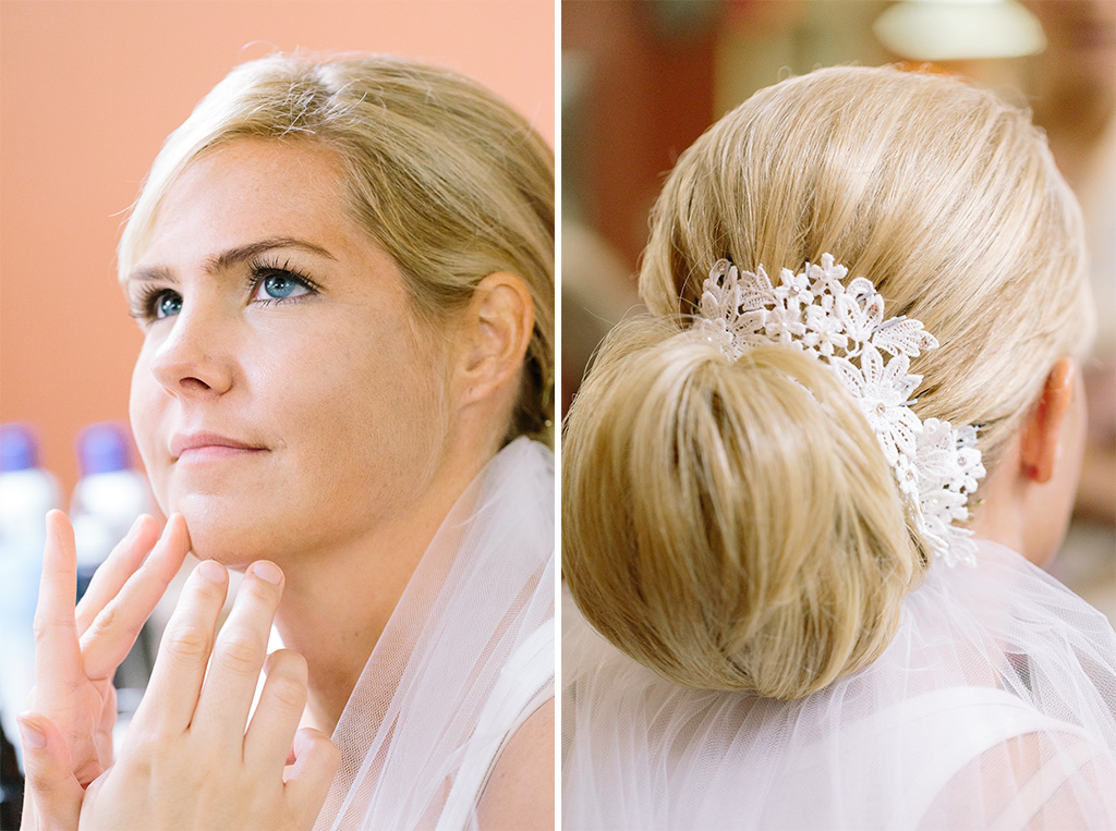 BridalPulse - Golf Lovers' Country Club Wedding - bride getting ready for wedding