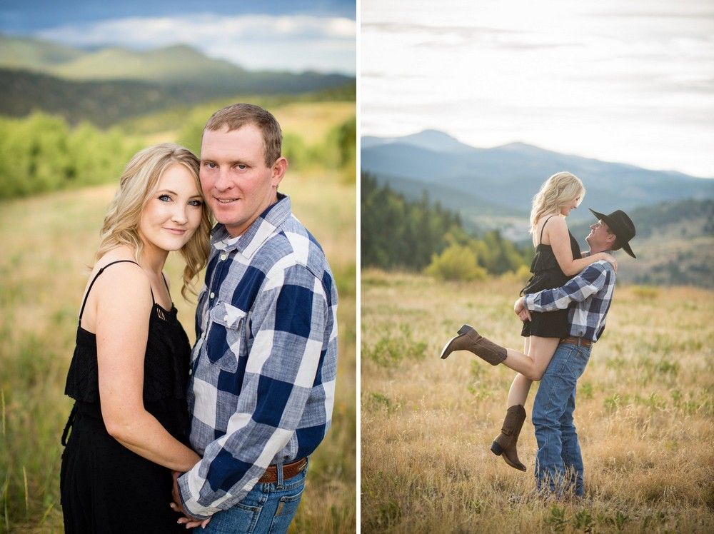 BridalPulse - Rustic and Romantic Colorado Engagement Shoot-Photography by Haley Allen Photography- Two portraits of the couple