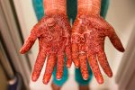 multicultural wedding - bride henna